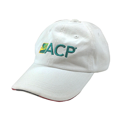 White Cap with ACP Color Logo