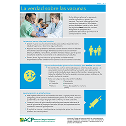 Patient FACTS: Adult Vaccine Mythbusters (Spanish)