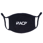 Black mask with the white ACP logo